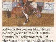 Rebecca Herzog erfolgreich beim LQH Country Fall